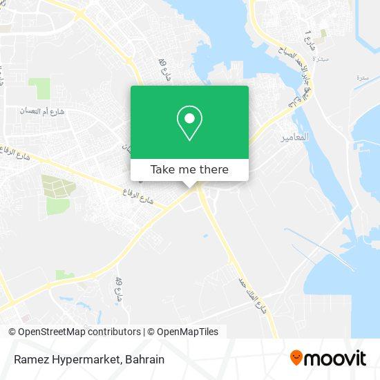 Ramez Hypermarket map