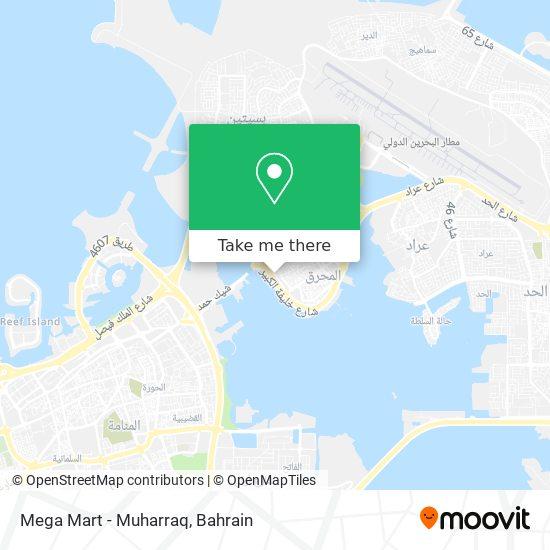 Mega Mart - Muharraq map