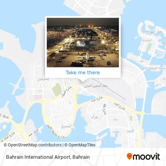Bahrain International Airport map
