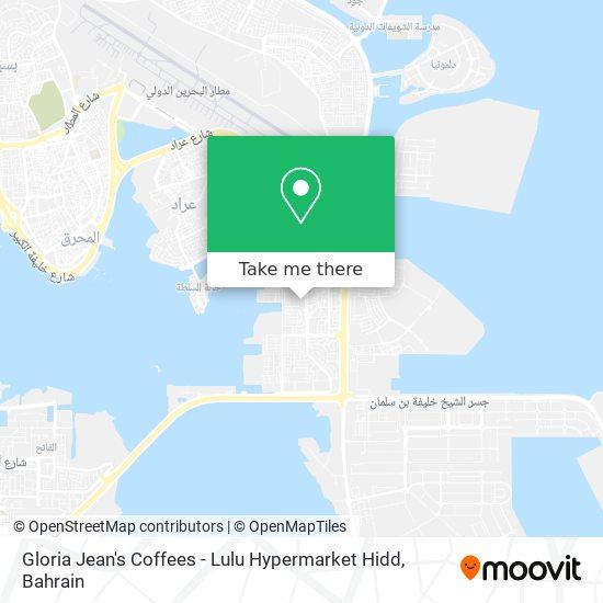 Gloria Jean's Coffees - Lulu Hypermarket Hidd map