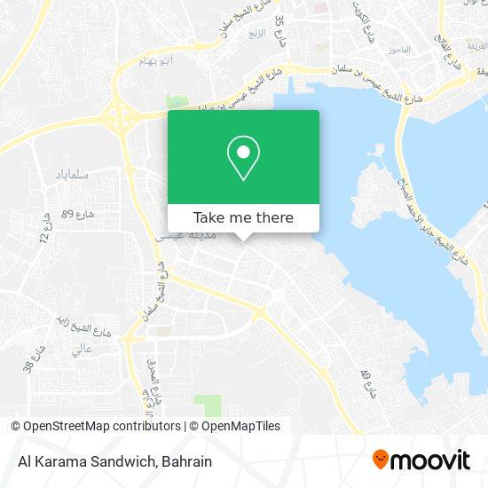 Al Karama Sandwich map