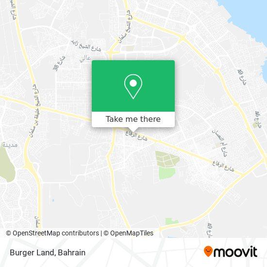 Burger Land map