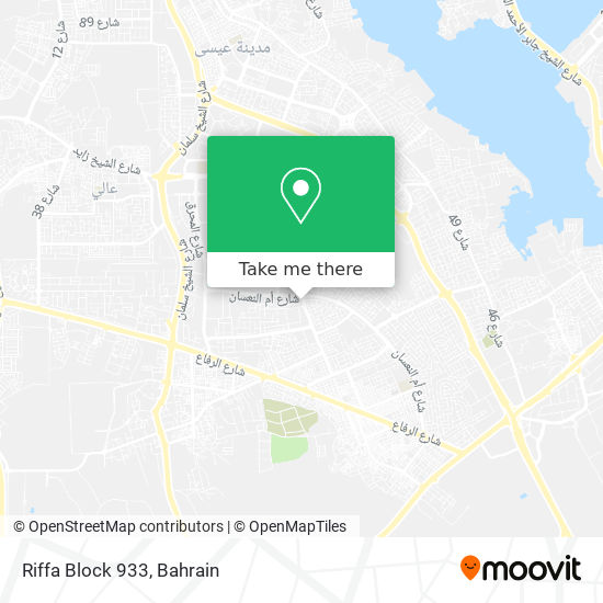 Riffa Block 933 map