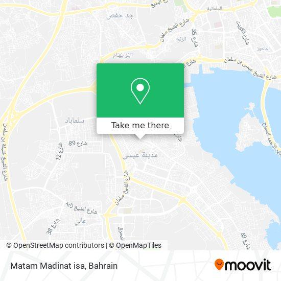Matam Madinat isa map