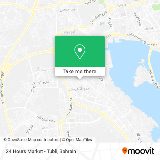 24 Hours Market - Tubli map