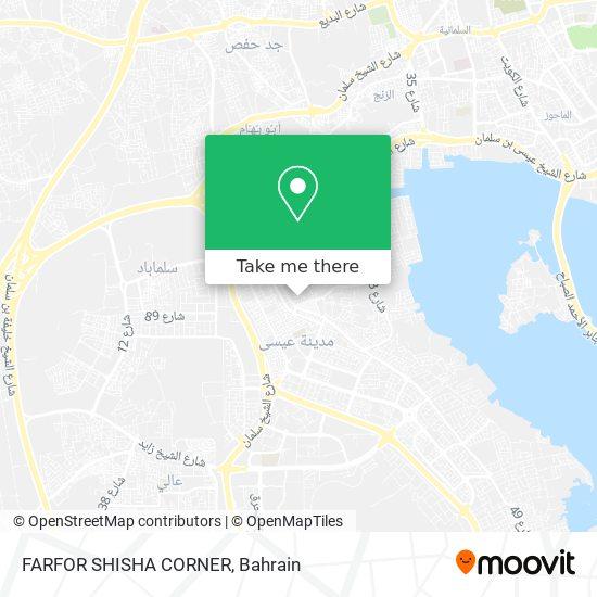 FARFOR SHISHA CORNER map