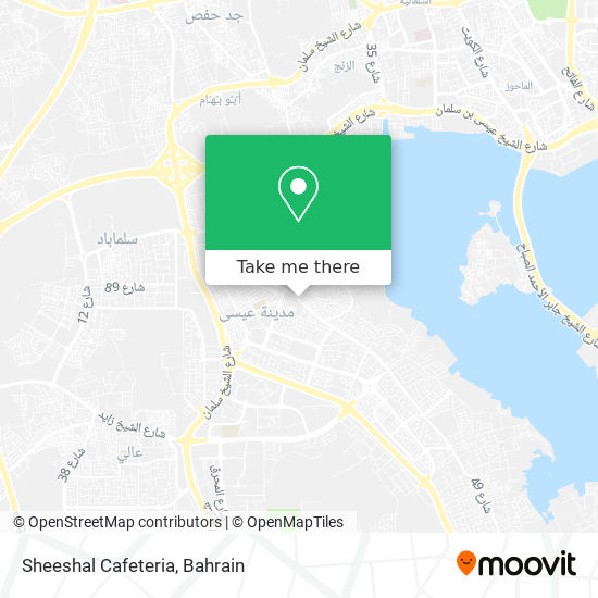 Sheeshal Cafeteria map