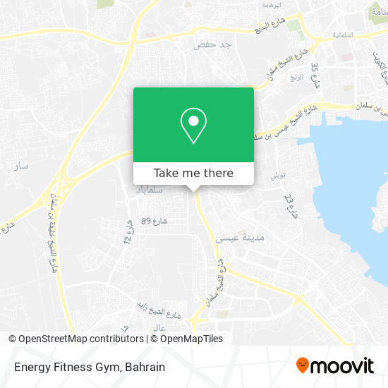 Energy Fitness Gym map