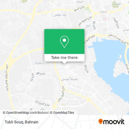 Tubli Souq map