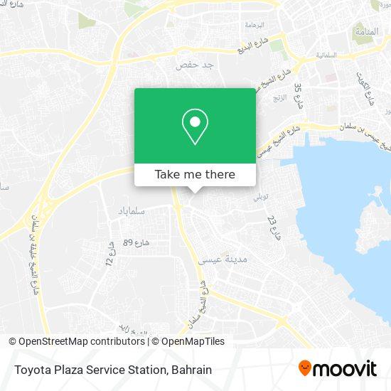 Toyota Plaza Service Station map