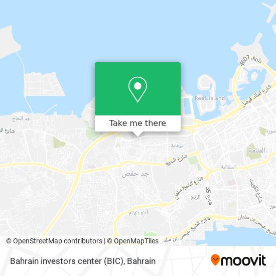 Bahrain investors center (BIC) map