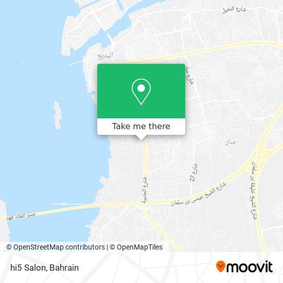 hi5 Salon map