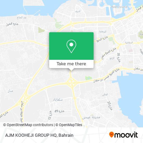 AJM KOOHEJI GROUP HQ map