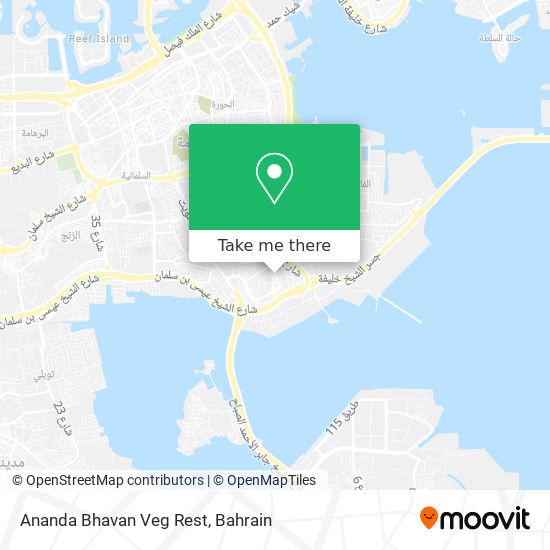 Ananda Bhavan Veg Rest map
