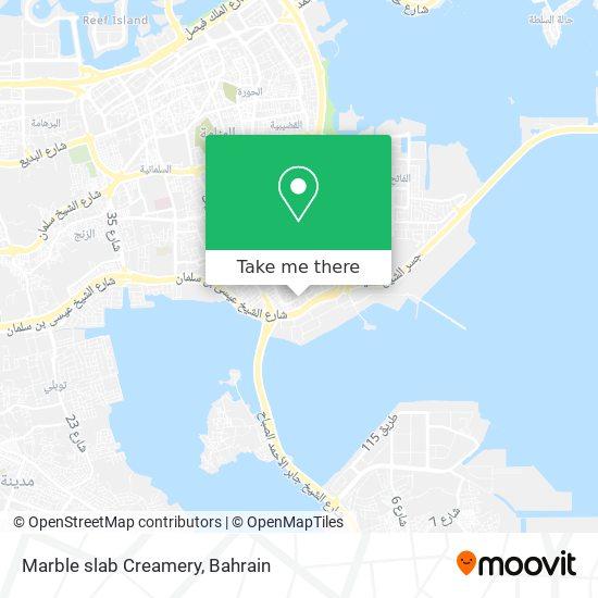 Marble slab Creamery map