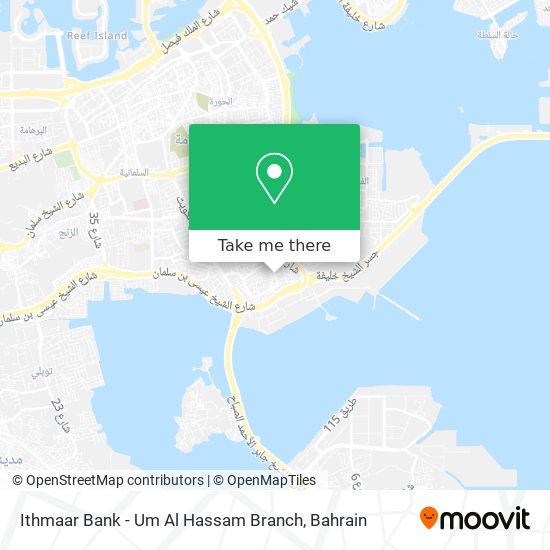 Ithmaar Bank - Um Al Hassam Branch map