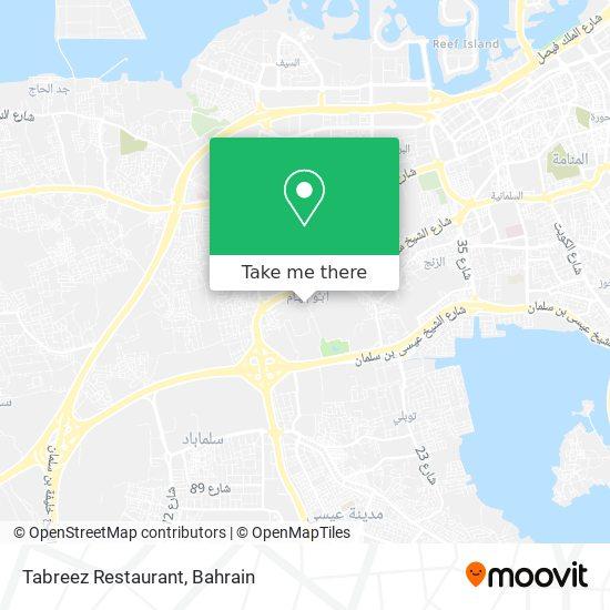 Tabreez Restaurant map