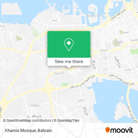 Khamis Mosque map