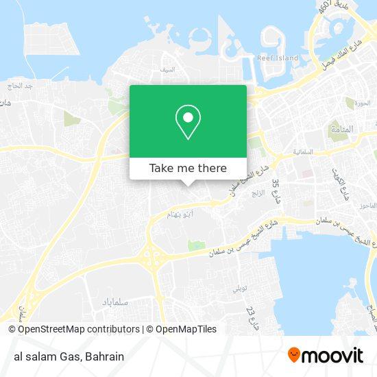 al salam Gas map