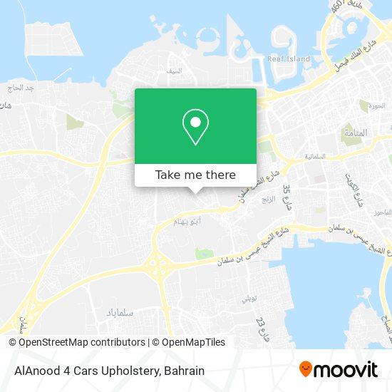 AlAnood 4 Cars Upholstery map