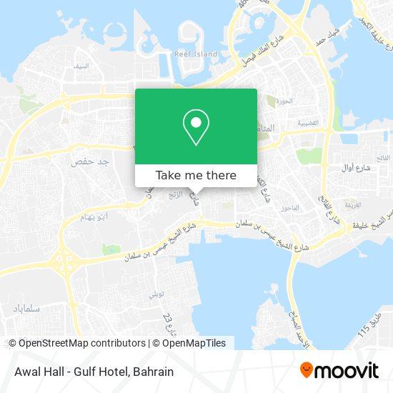 Awal Hall - Gulf Hotel map