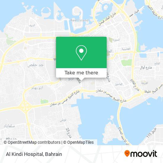 Al Kindi Hospital map