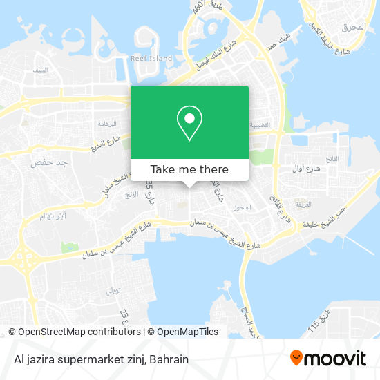 Al jazira supermarket zinj map