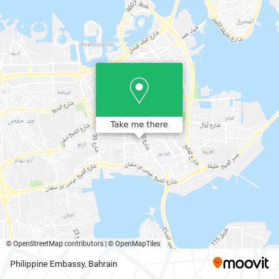 Philippine Embassy map