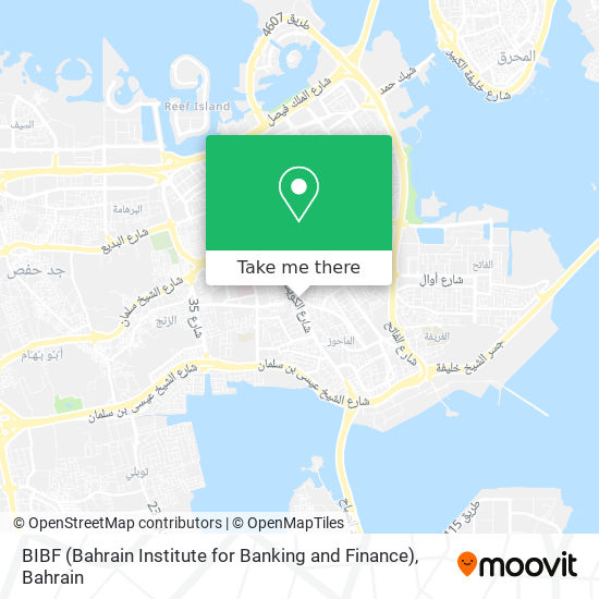 BIBF (Bahrain Institute for Banking and Finance) map
