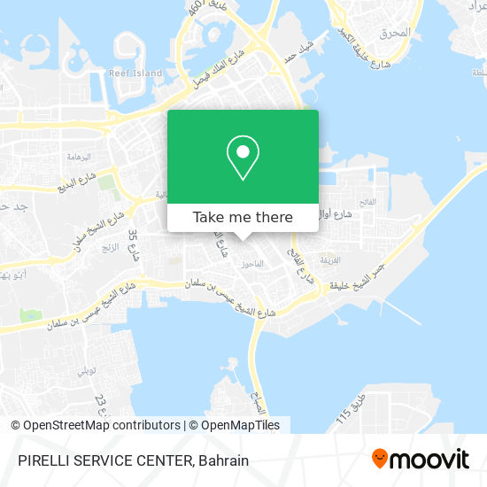 PIRELLI SERVICE CENTER map