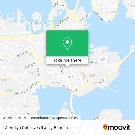 Al Adliya Gate بوابة العدلية map