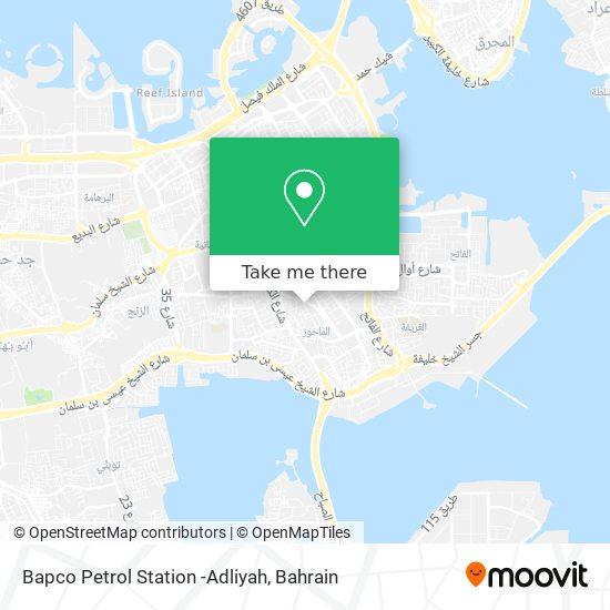 Bapco Petrol Station -Adliyah map