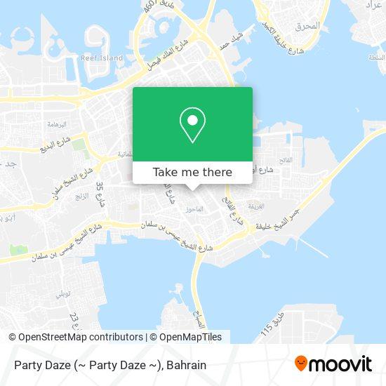 Party Daze map