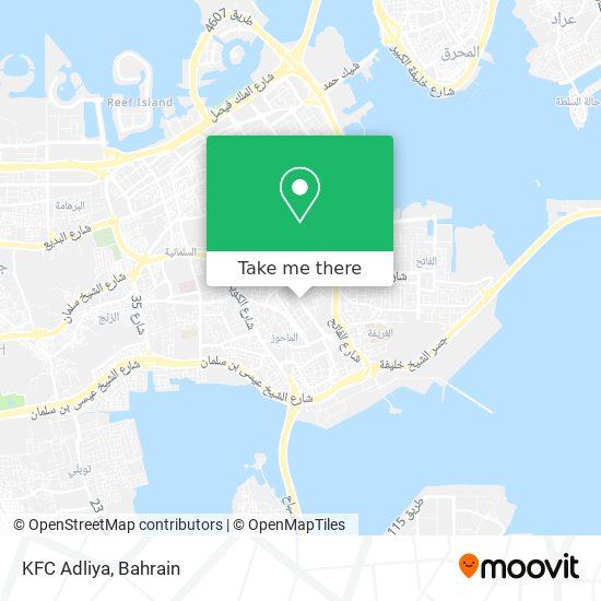 KFC Adliya map
