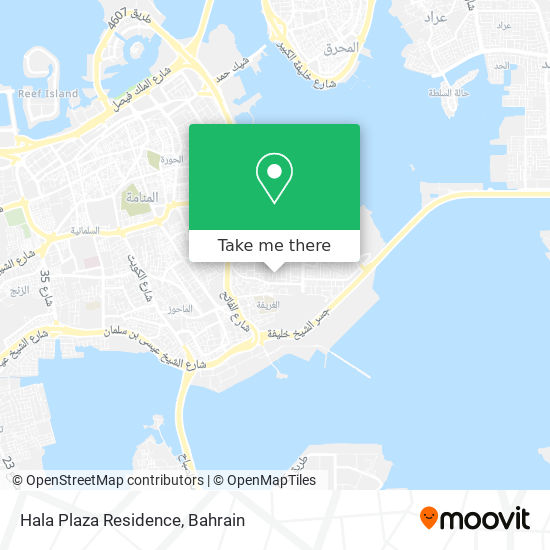 Hala Plaza Residence map