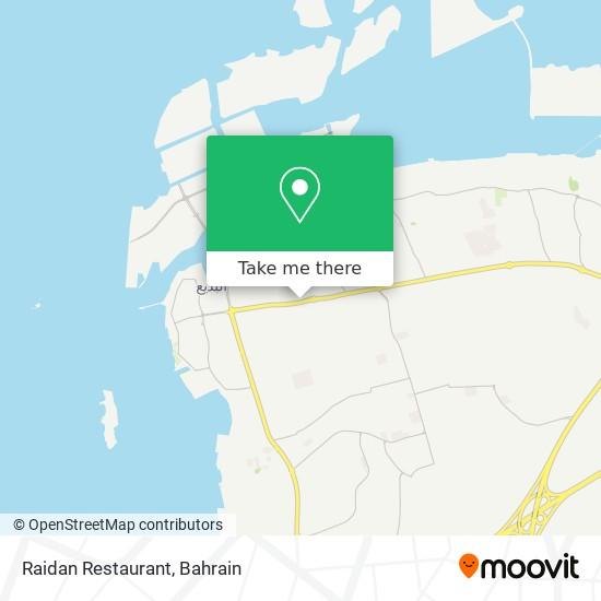 Raidan Restaurant map