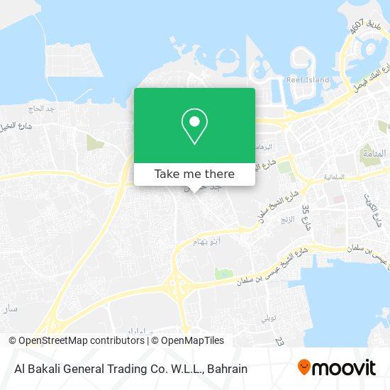Al Bakali General Trading Co. W.L.L. map