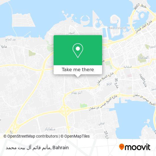 مأتم قائم آل بيت محمد map