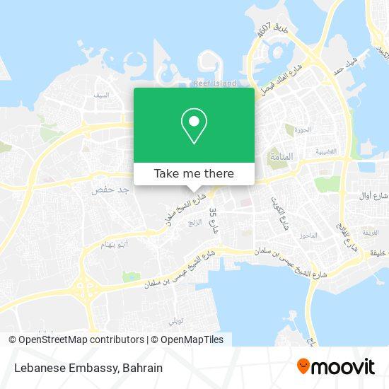 Lebanese Embassy map