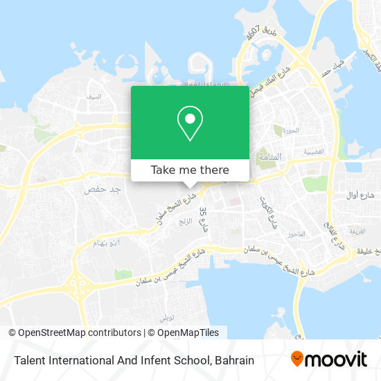 Talent International And Infent School map
