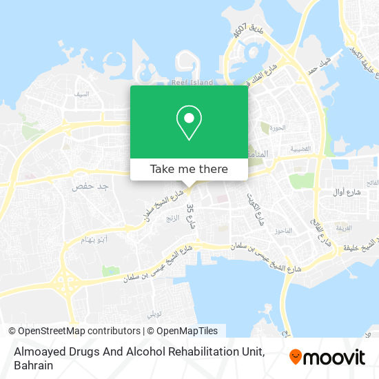 Almoayed Drugs And Alcohol Rehabilitation Unit map