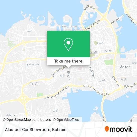 Alasfoor Car Showroom map