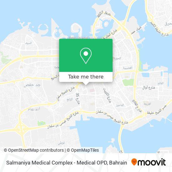 Salmaniya Medical Complex - Medical OPD map