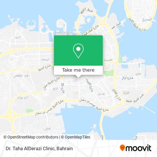 Dr. Taha AlDerazi Clinic map