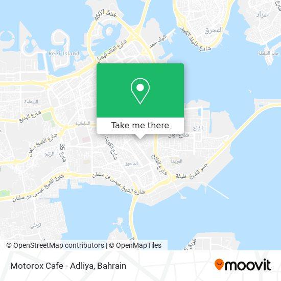 Motorox Cafe - Adliya map