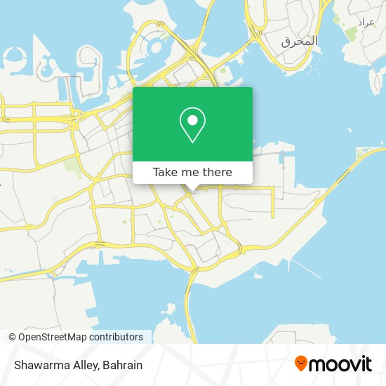 Shawarma Alley map