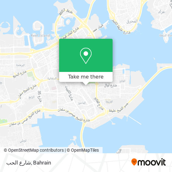 شارع الحب map