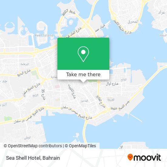 Sea Shell Hotel map