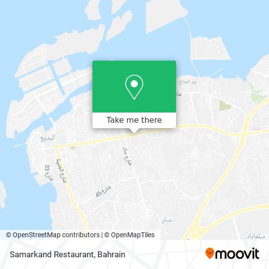 Samarkand Restaurant map