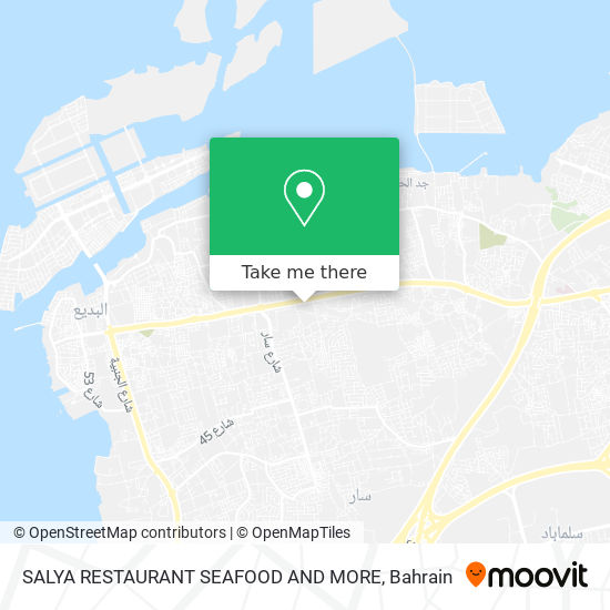 SALYA RESTAURANT SEAFOOD AND MORE map